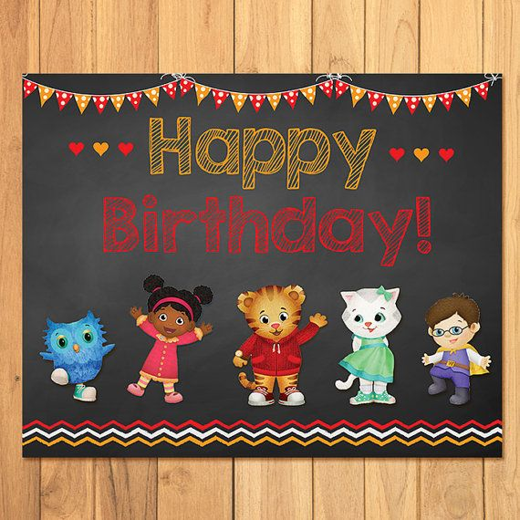 Its a Daniel Tiger Party!    Thank you for stopping by my store! I have for you here an Daniel Tiger Birthday Sign - this item is a printable,