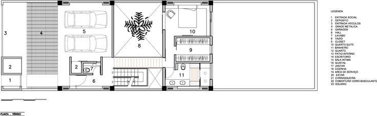 Planta Térreo - Residência M&M / Bonina Arquitetura