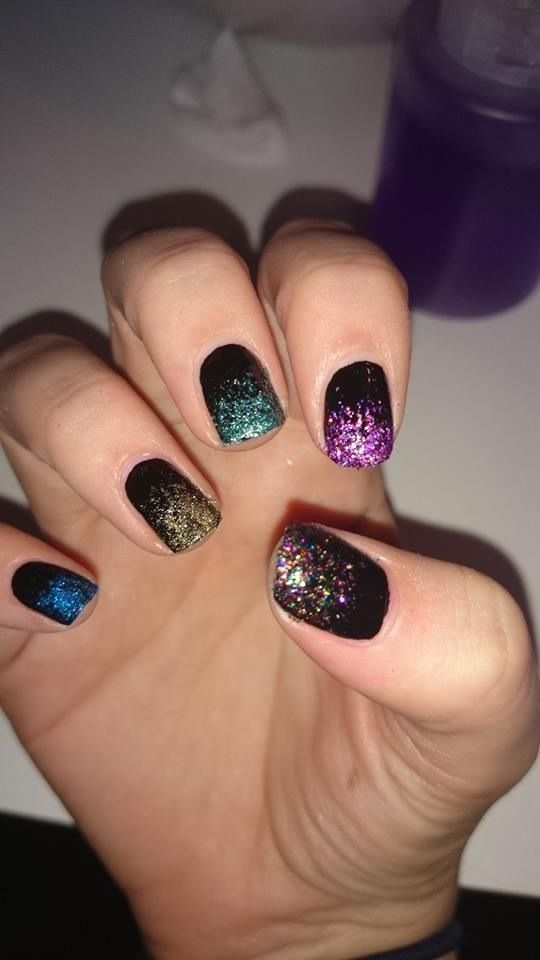 Fire work bonfire night nails from beauty by Emma