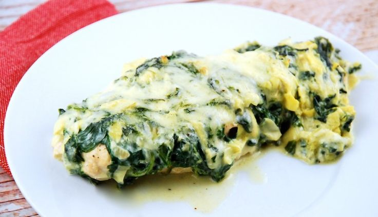 Spinach Artichoke Chicken Breasts - 6 sp / 1 filet (1/8 of recipe)