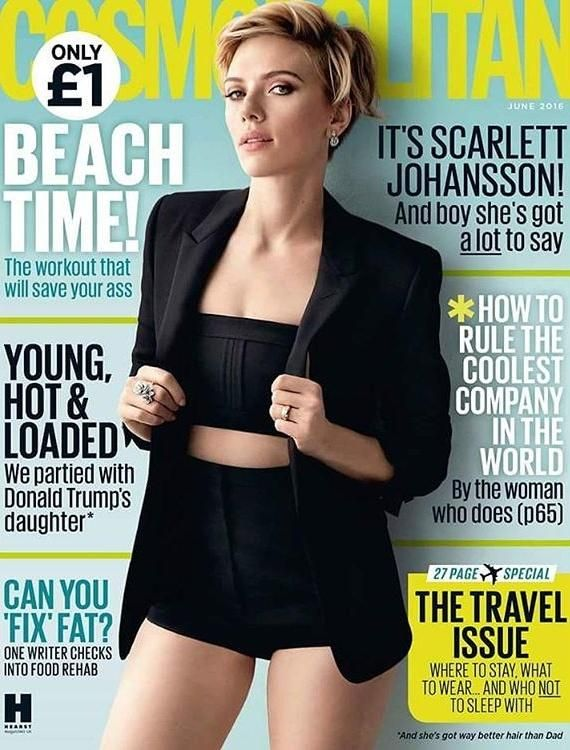 The lovely Scarlett Johansson is gracing the cover of Cosmopolitan UK June issue, for the first time in 9 years, and she is looks fierce on it. I love the all black outfit she has going, wit…