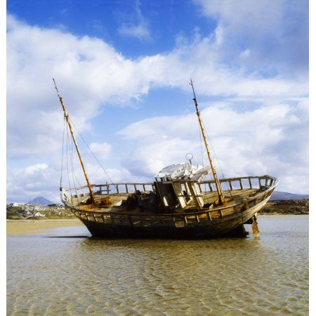 Bunbeg County Donegal Ireland Shipwreck Canvas Art - The Irish Image Collection Design Pics (30 x 32)