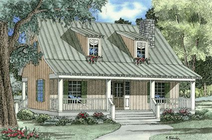 Plan Narrow Lot, Country, Vacation, Cottage House Plans U0026 Home Designs