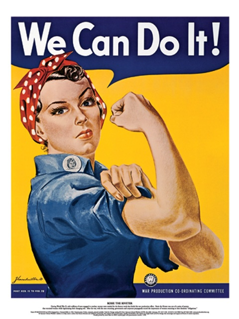 Rosie The Riveter by J. Howard Miller