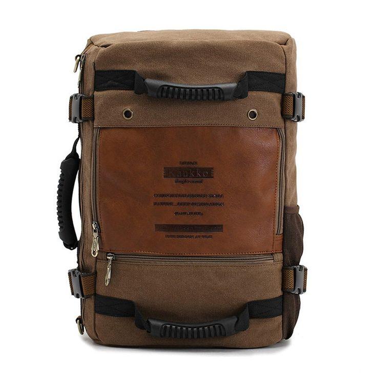 Neu Herren Vintage Canvas Rucksack Retro Rucksack Schultasche Canvas Tasche Schultertasche Tote Bag für Outdoor Sports Reise Rucksack: