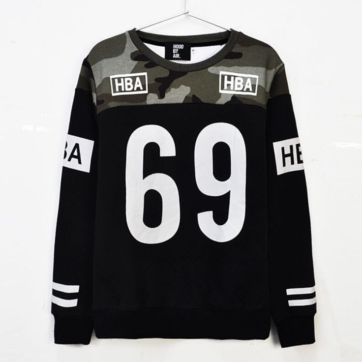 Mens HBA hoodie No.69 hip hop fashion hoodies patchwork camouflage sweatshirt men crewneck brand hood by air moleton masculino|e7822902-53ea-421a-a66b-28aa043ae84e|Hoodies & Sweatshirts