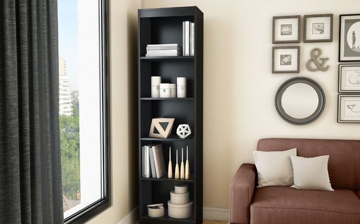 Bookcase Shelf Bookshelf Storage Adjustable Shelves Furniture Book Display Home #SouthShore #Contemporary