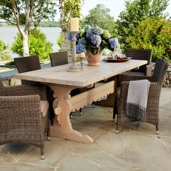 Trestle Table From Reclaimed Wood   This One Wouldnu0027t Be That Hard To Make