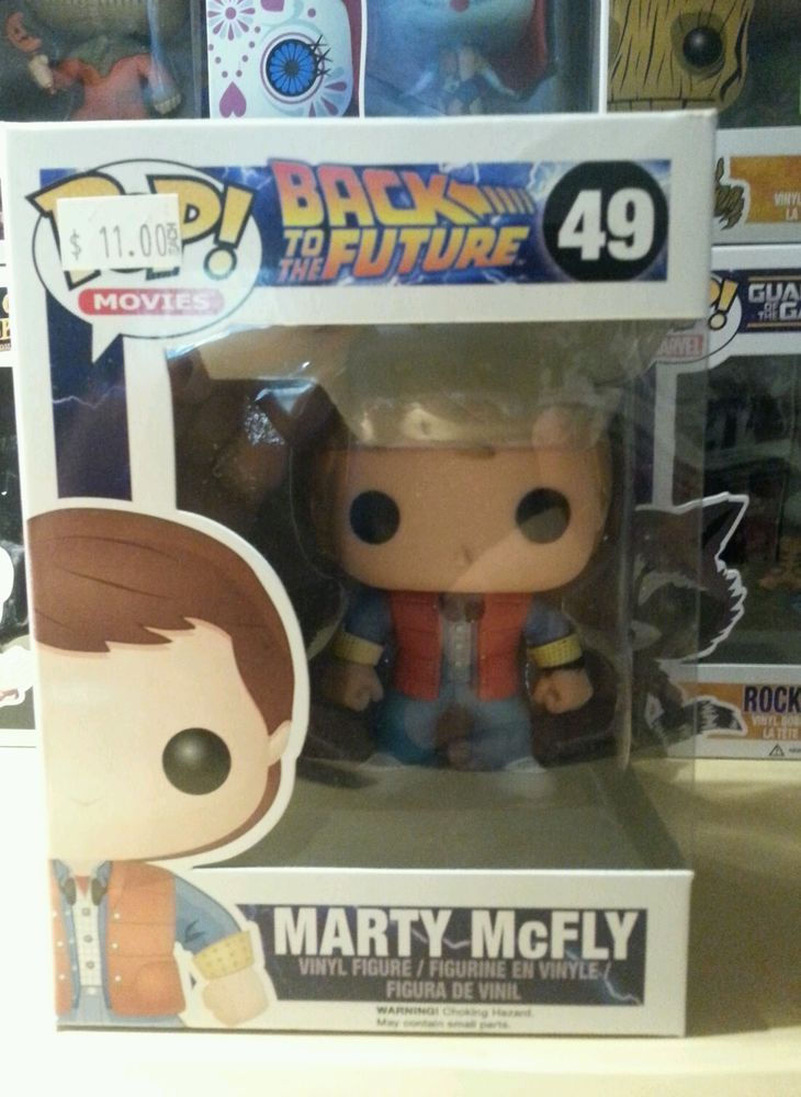 Funko Pop Movies Rare 49 Marty McFly Figure Marty Mcfly