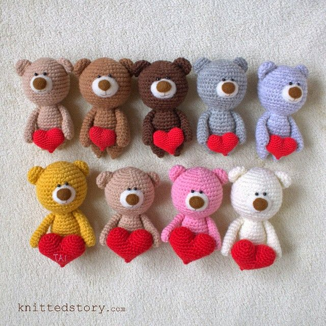 Мишки с сердечками