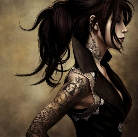Tattoo Illustrations By Kirk QuilaquilTattoo Women, Tattoo Ideas, 3D Character, Painting Art, Girls Tattoo, Art Tattoo, Digital Art, Tattoo Girls, Landscapes Photography
