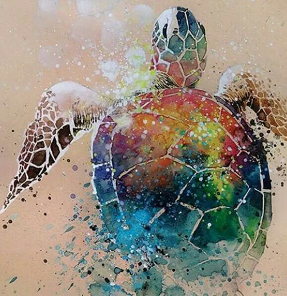 Stunning Splashed Watercolor Paintings By Tilen Ti