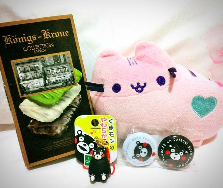 Souvenirs from Japan!  A huge thank you to Kyushu host-family :) #pusheen #pusheentravels #souvenirsfromjapan #kumamotogoods #kumamon #kumamongoods #königskrone #konigskrone #プシーン #お土産 #熊本から #クマモン #くまモン by pusheen_travels