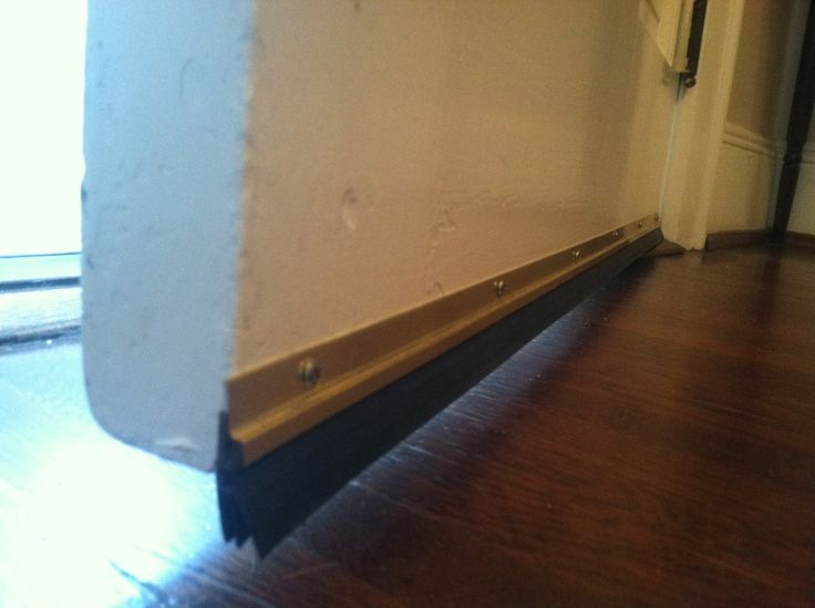 DIY Door Sweep  This is one of the quickest, cheapest, and easiest ways to save money instantly. A door sweep costs a couple bucks and attaches to the bottom of your door to keep the cold air out. You can find door sweeps that attach with screws or ones with self-stick adhesive.
