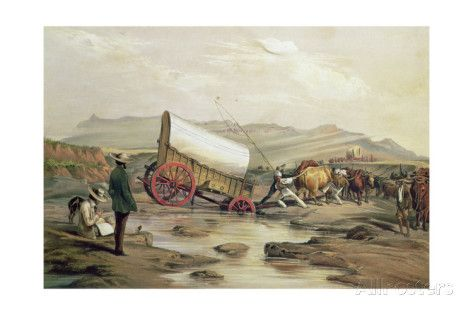 thomas-baines-t662-klaass-smit-s-river-with-a-broken-down-wagon-crossing-the-drift-south-africa-1852.jpg (473×315)