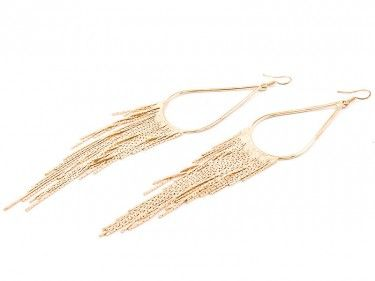 Kolczyki wiszące z łańcuszkami złote