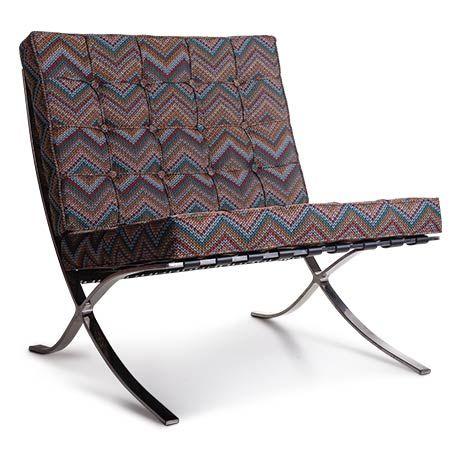 Missoni Barcelona Sandalye   1929 yılı, Ludwig Mies van der Rohe tasarımı missoni koltuk. Barcelona Chair & Ottoman