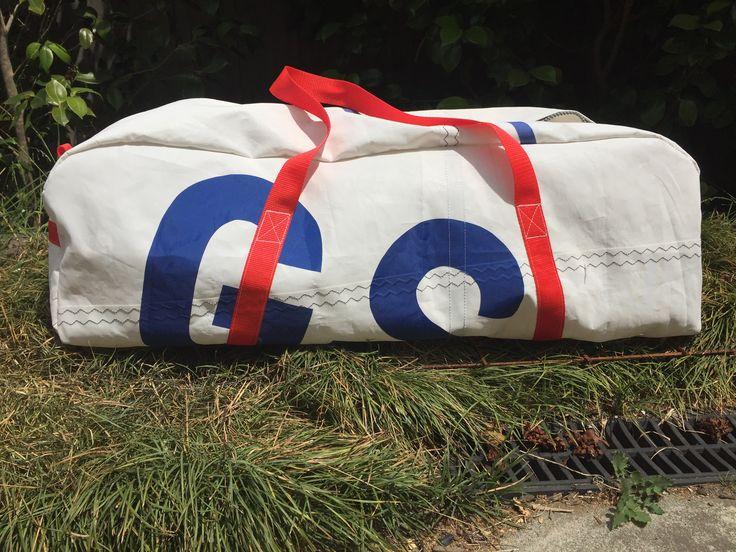 Sail bag made using old sails