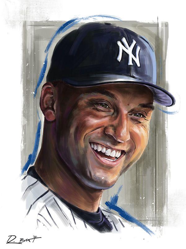 Derek Jeter - An Illustrated Tribute by Robert Bruno, via Behance