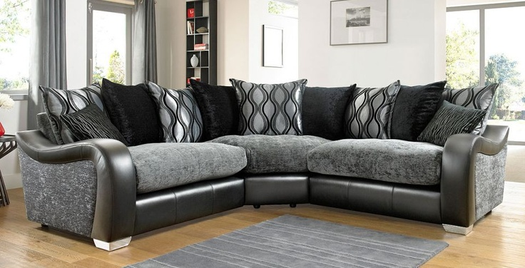 Fabric Amp Leather Corner Sofa Dfs Leather Corner Sofa