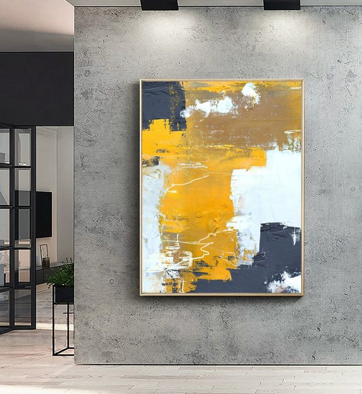 Original Orange Yellow Abstract Painting,Abstract Painting ...