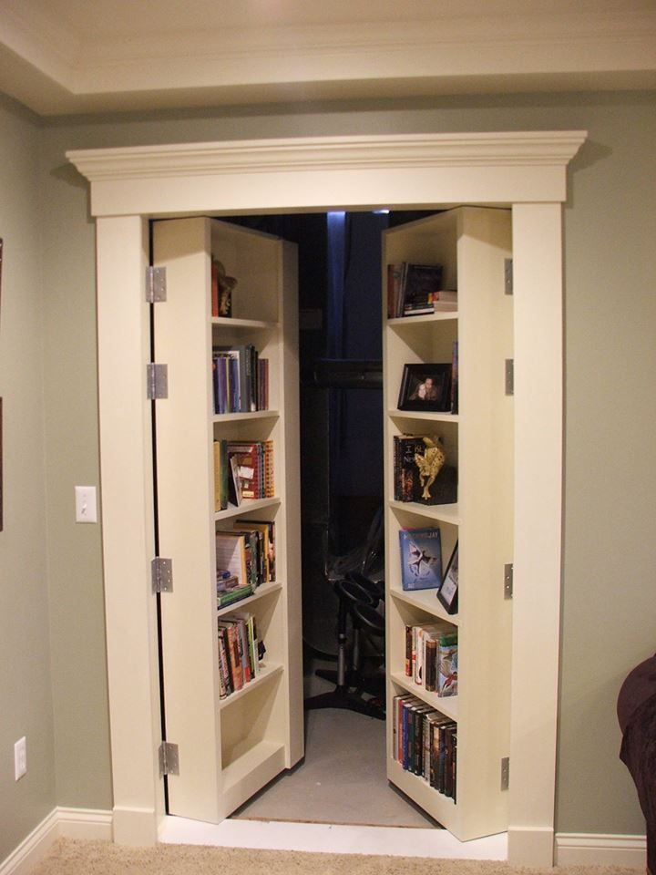 Image result for pinterest hidden room door