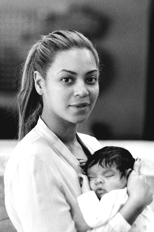 Baby Blue Ivy and Mom Beyonce