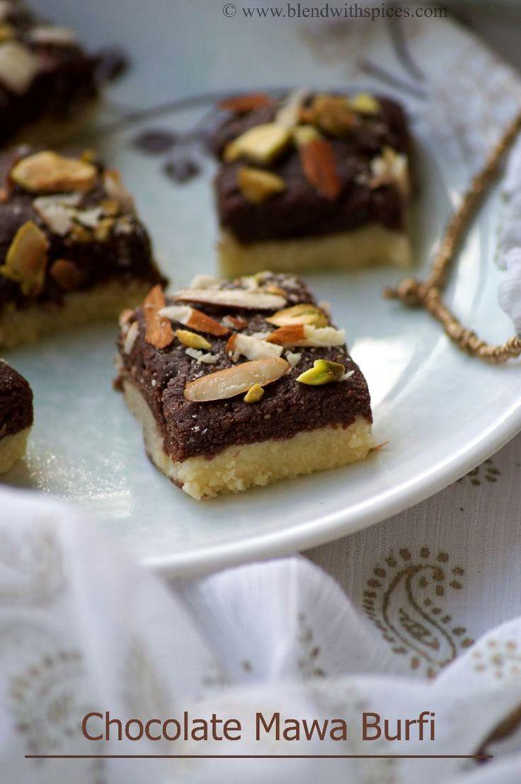 Chocolate Khoya Burfi Recipe - Step by Step Recipe - Easy Diwali Sweets Recipes | Indian Cuisine