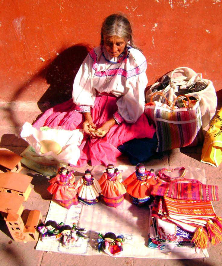Handicraft seller, Tequisquiapan, Queretaro, Mexico