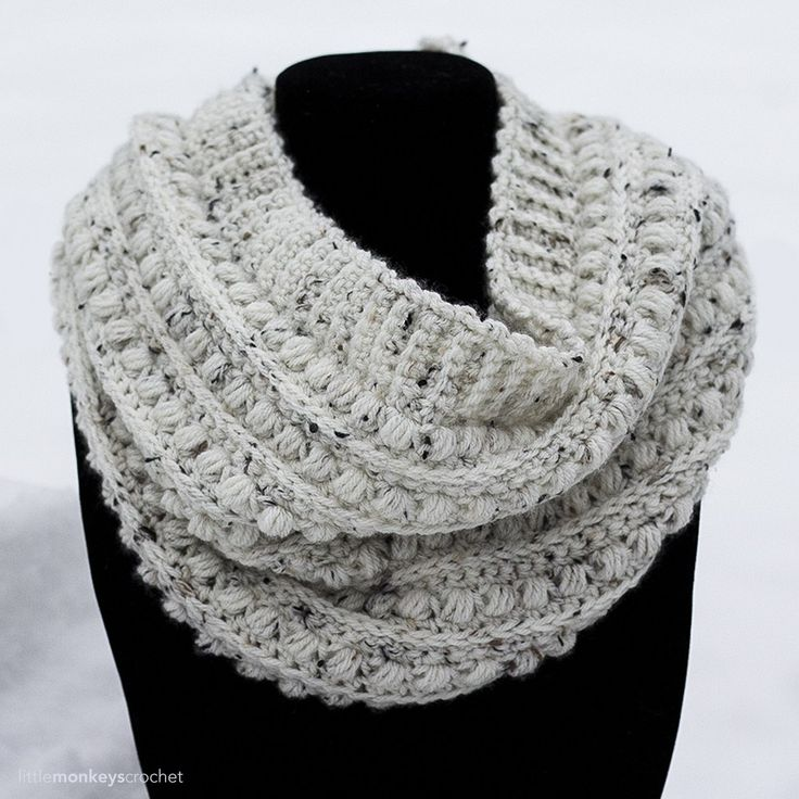 I rarely make a pattern twice, but I am still obsessing over the Malia stitch pattern from my Malia Crochet-Along! So, naturally, I just keep reinventing it. This cowl is just what it says it is - classic! A top ribbing adds a little extra visual appealto the alreadybeautiful combination of the 3r