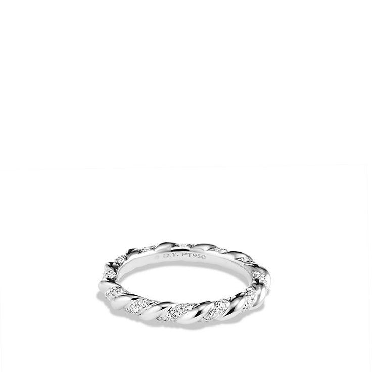 David Yurman Wedding Band In Platinum With Diamonds Second Best