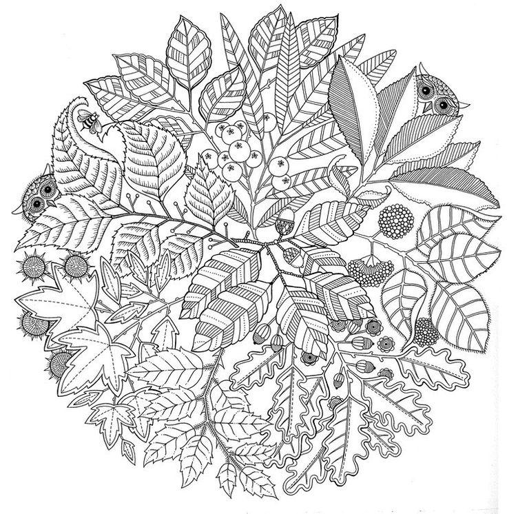 Dibujos para colorear para adultos Mandala El otoño