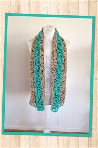 Two-tone gehaakte sjaal