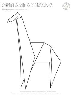 Animal origami coloring pages tips