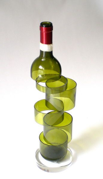 zerschnittene flasche diy wine rack wine