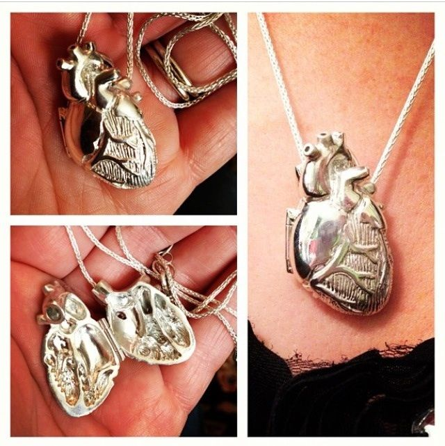 Check out this anatomically correct heart locket that my husband bought me! (I'm a ER nurse, hearts are my thing.)