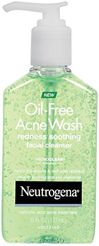 Neutrogena Oil-Free Pimples Wash Redness Soothing Facial Cleanser, 6 Fluid Ounce