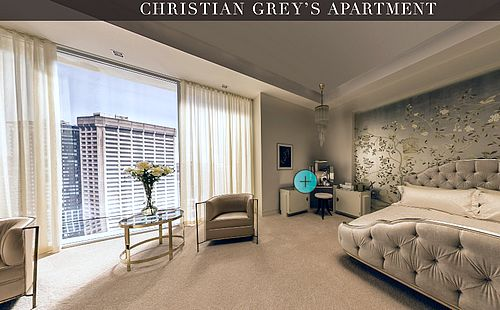 Christian Grey's Bedroom decor! Who would say that he has luxury feminine furniture in his bedroom. You don't believe? @koket @fiftyshadesmovie