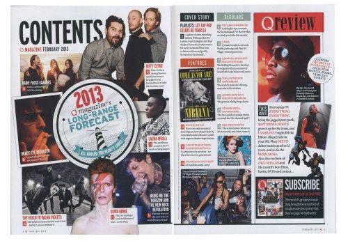 q-magazine-contents-page