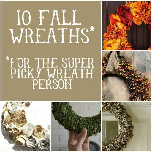 10 Fall Wreaths (for the super picky) via lilblueboo.com