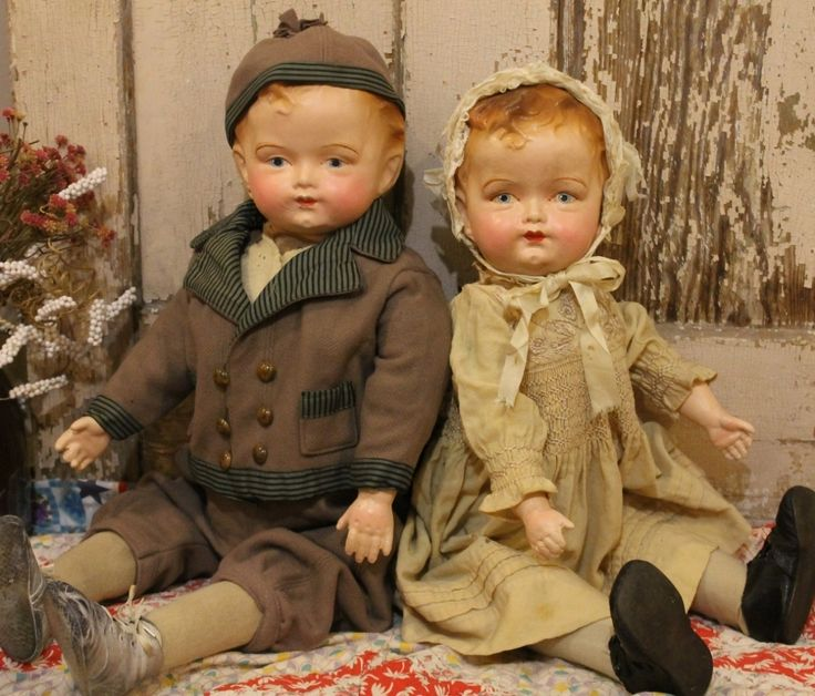 "23"" Composition Cloth Jointed Old Antique Vintage Big Hair Baby Doll 