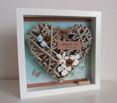 Décoration d'intérieur/objets personnalisés : Coeur dans son cadre » fiskarettes