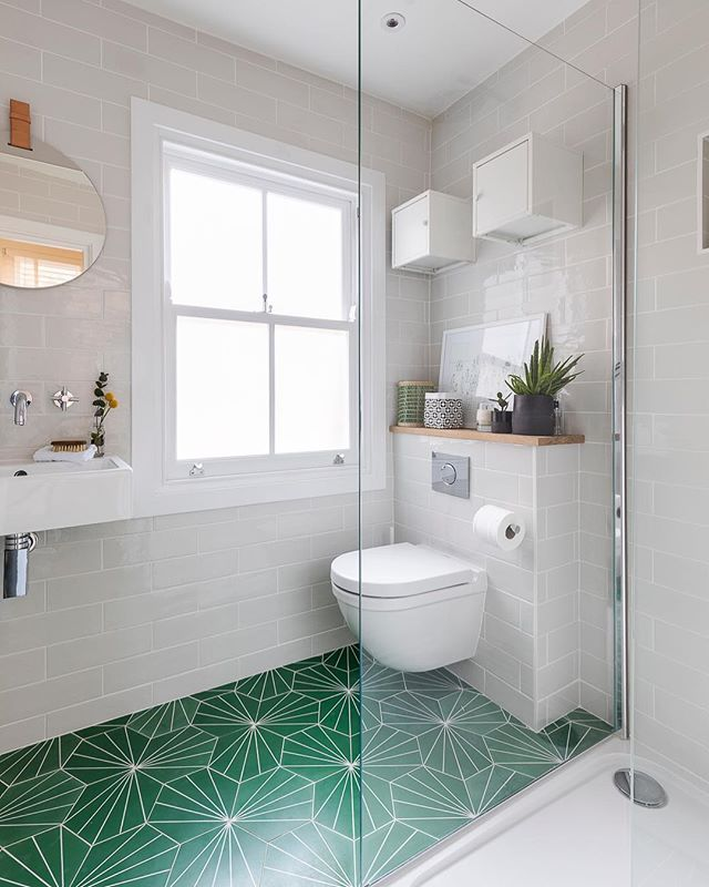 Pea Green Dandelion Tiles By Marrakechdesign Create The Wow Factor Of This Small Bathroom D Bathroom Tile Designs Gorgeous Bathroom Tile Best Bathroom Designs