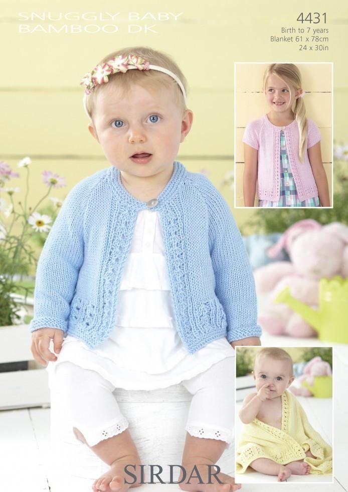 0b0e34c84 Sirdar Baby Cardigan   Blanket DK Knitting Pattern 4431 – The ...