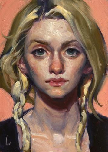 "Daily Paintworks - ""Just Peachy"" - Original Fine Art for Sale - © John Larriva"