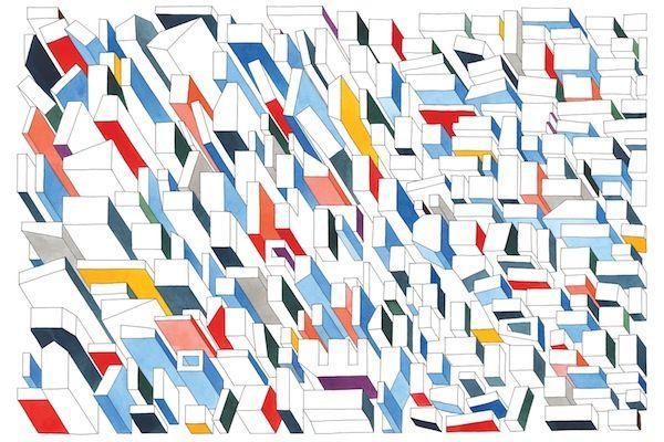 Urban Illustrations by Nigel Peake