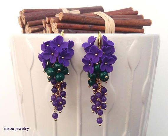 Christmas EarringsStatement Earrings Dangle Earrings Flower