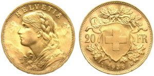 Featured Coin: Swiss Gold Vreneli