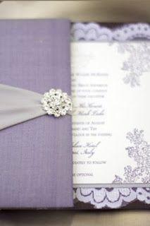 Luxurious Wedding Invitation Style: Purple and Silver Wedding Invitations