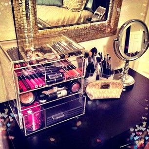 beautybox ; vanity ; makeup storage